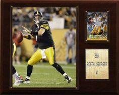Pittsburgh Steelers Plaque - Ben Roethlisberger 12x15 Player (backorder)