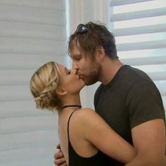 Renee young and husband dean Ambrose