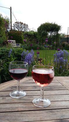 Enjoy a wine in the cottage garedn