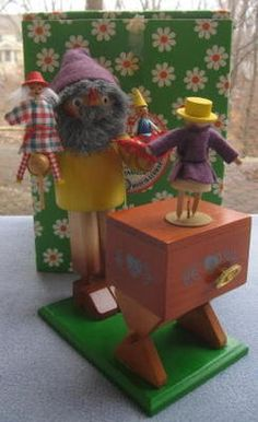 Steinbach Wooden German Smoker Puppeteer Dancing Doll Movement Music Box | eBay