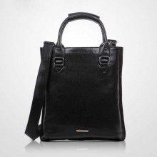 black/brown fashion casual leather crossbody shoulder bag for men