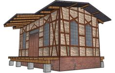 New German Buildings In HO Scale For Train Sets And Dioramas - by Meineschule.De 3