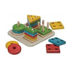 Apilable geométrico - juguetes creativos de madera