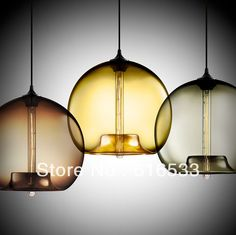 Hot!Niche Modern Glass Pendant Lights Dining Room Bar Vintage Pendant Lamp Italy Style Lighting Fixtures d8082 $102.88