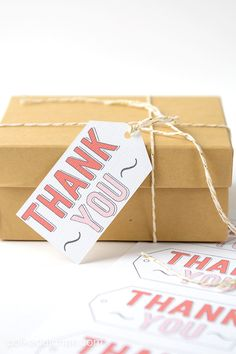 Free Printable THANK YOU gift tags