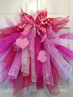 Mesh Valentines Wreath Valentines Wreath by TheHolidayBowtique
