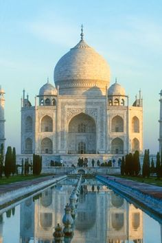 Taj Mahal - must visit before it crumbles, because chances are it most definitely will in our lifetime. Places Around The World, Oh The Places You'll Go, Places To Travel, Places To Visit, Around The Worlds, Travel Stuff, Wonderful Places, Great Places, Beautiful Places