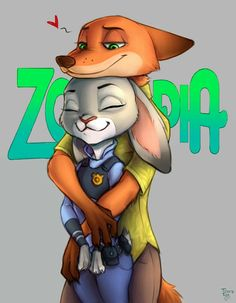 Nick and Judy-Zootopia Fan Art