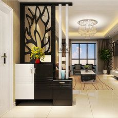 Cut off the living room entrance cabinet decoration cabinet door entrance hall cabinet shoe white paint decorative wall cabinet Room Partition Wall, Living Room Partition Design, Living Room Divider, Pooja Room Door Design, Room Partition Designs, Living Room Tv Unit Designs, Ceiling Design Living Room, Foyer Design, Home Room Design