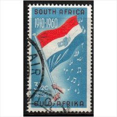 South Africa Scott 246 - 1961 Flag used stamps sur le France de eBid Pretoria, Union Of South Africa, Handmade Books, Stamp Collecting, 50th Anniversary, Erika, Postage Stamps, Childhood Memories, Herb