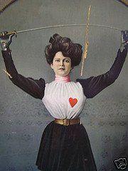 Edwardian lady fencer
