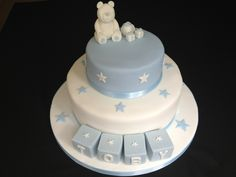 My first ever christening cake creation! Christening Cakes, Cake Creations, Board, Desserts, Christmas, Kids, Baptism Cakes, Tailgate Desserts, Xmas