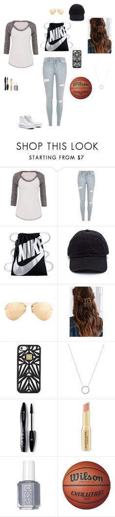 """""""My type of outfit!"""" by rachel-is-always-wright ❤ liked on Polyvore featuring maurices, Converse, NIKE, Ray-Ban, Urban Outfitters, Hervé Léger, Michael Kors, Lancôme, Napoleon Perdis and Essie"""