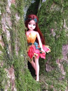 Rerooted and repainted Sindy autumn fairy