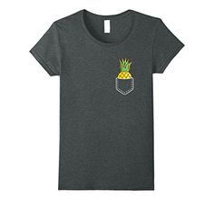 Womens Pocket Pineapple T-Shirt Humorous Fruit Vegan Wholesome Foods Tee Huge Dim Heather - Hifow - http://howto.hifow.com/womens-pocket-pineapple-t-shirt-humorous-fruit-vegan-wholesome-foods-tee-huge-dim-heather-hifow/