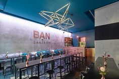 neon installation by sygns at Ban Canteen restaurant in Hamburg