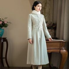 Buy 'GU ZHI – Embroidered A-Line Coat' with Free International Shipping at YesStyle.com. Browse and shop for thousands of Asian fashion items from China and more!
