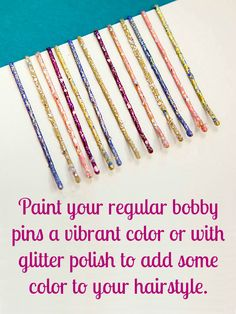 An easy way to make your hair pins cuter.