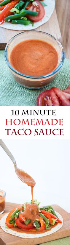 Homemade Taco Sauce Recipe done in 10 minutes! | VeganFamilyRecipes.com | #clean eating #sauces #mexican #healthy #vegan #gluten-free #paleo #dinner