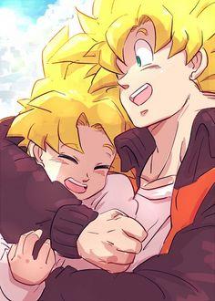 Gohan and Goku from the Dragon Ball Z anime