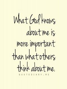 GOD knows all, others just think they know