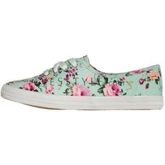 Floral Print Sneakers ($21) ❤ liked on Polyvore featuring shoes, sneakers, zapatillas, floral printed shoes, canvas shoes, light weight shoes, lightweight shoes and flower print shoes