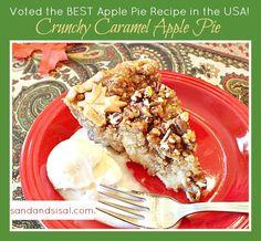 Crunchy Caramel Apple Pie Recipe - This recipe won the #1 Apple Pie of Emeril's Eye Contest! It is the perfect Thanksgiving Dessert.