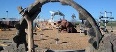 Fossil Creek Park (5821 S. Lemay Ave.) Fort Collins, CO. - Fun, fossil-inspired playground and lakeside walking trail.