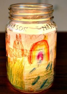 I think this is such a charming idea, of making a story lantern. Read about it on Rhythm of the Home by Annie Riechmann of Alphabet Glue. Im looking forward to making some of these with the children and lighting up their stories!