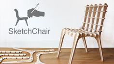 SketchChair Kickstarter Campaign by diatom studio. SketchChair is an open-source software tool that allows anyone to easily design and build their own digitally fabricated furniture.