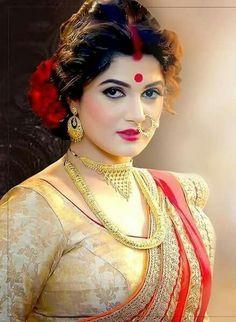Beautiful Indian Brides, Most Beautiful Indian Actress, Beauty Full Girl, Beauty Women, Bengali Bride, Bengali Wedding, India Wedding, Indian Beauty Saree, Madame
