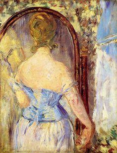 Édouard Manet - Devant le miroir (Before the mirror) (1876)