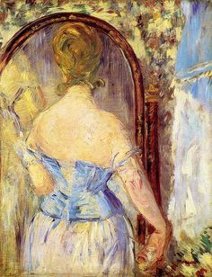 Édouard Manet - Devant le miroir (Before the mirror) (1876)