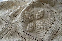Dessus de lit crochet d'art 1900