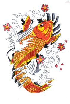 Koi Tattoo Sketch
