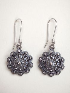 Charro Button Drop Earrings
