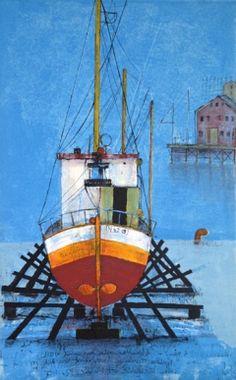 Galleri | Gunn Vottestad Lofoten, Abstract Landscape, Sailing Ships, Norway, Art Gallery, Stairs, The Originals, Places, Inspiration