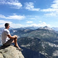 Having a moment to take it all in, glacier point Yosemite national park