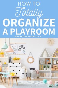 How To Organize Kids Playroom. Realistic playroom organization ideas that are easy to implement and maintain. Simplify the organizing toys with these totally do-able tips. Your kids need to be able to use their playroom for their toys, books, activities and puzzles, but these playroom organization tips will make it a great space.  Declutter and organize your playroom today. #Organizing #Decluttering #organizingmoms Living Room Toy Storage, Diy Toy Storage, Playroom Organization, Organization Hacks, Organizing Toys, Storage Ideas, Playroom Ideas, Organizing Ideas, Scandi Living Room