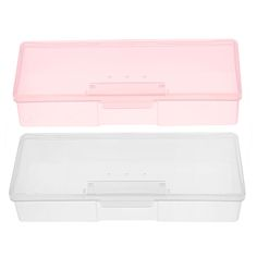 Plastica Trasparente Scatola Di Immagazzinaggio Strumenti Del Chiodo Chiodo Decorazioni di Strass Buffer File Rettifica Organizer Box Case 193x80x39mm
