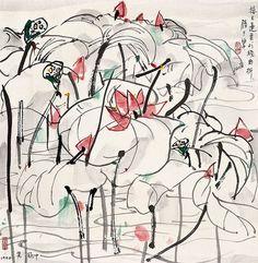 吴冠中 接天莲叶胜于碧 by China Online Museum - Chinese Art Galleries, via Flickr