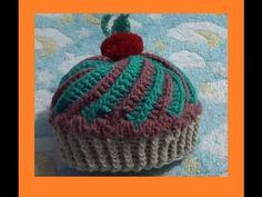 Sobras 3 - Gorro de Cupcake o Panque 0-3 años a Crochet - YouTube