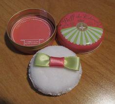 Majolica Majorca Cherry Macaron Puff de Cheek Blush #RD414 NEW #MajolicaMajorca