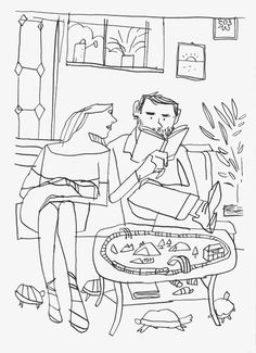 Keep A Sketchbook And Have Fun - Drawing On Demand Black And White Illustration, Sketchbook Inspiration, Portrait Illustration, Cute Drawings, Designs To Draw, Zine, Love Art, Illustrators, Artsy