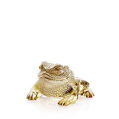 Gregoire Toad sculpture | Gold luster crystal | Lalique