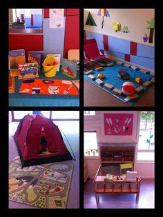Thema hoeken vakantie:thematafel/ ijskraam/ zwembad /camping Kindergarten, Maria Montessori, Camping Theme, School S, Jaba, Reggio, School Projects, Classroom Decor, Summer Time