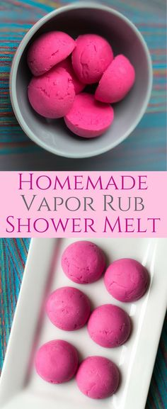 Homemade Vapor Rub Shower Melts with Vicks.