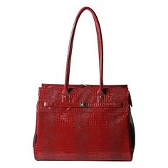 BarknBag Exotic Line Patent Croco Pet Carrier Red * Click on the image for additional details.