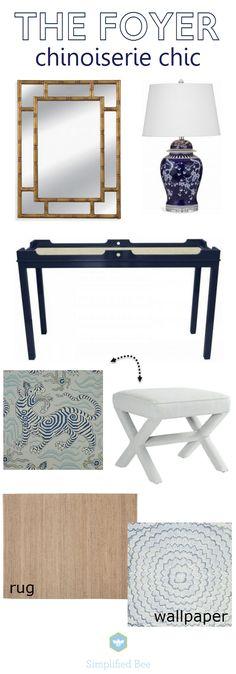 foyer selections // www.simplifiedbee.com @simplifiedbee #entry #design #oneroomchallenge