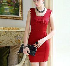 Petal edges cut sleeveless dress ladies section